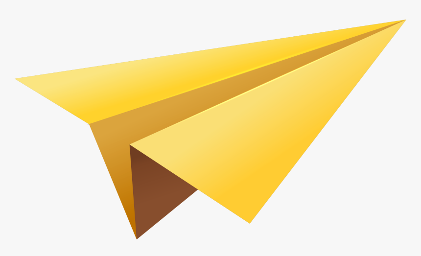 Paper Airplane Png Yellow Paper Plane Png Transparent Png Kindpng