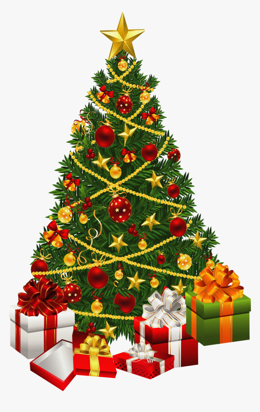 Christmas Tree Black And White Xmas Tree Clip Art Christmas - Clipart Transparent Christmas Tree, HD Png Download, Free Download