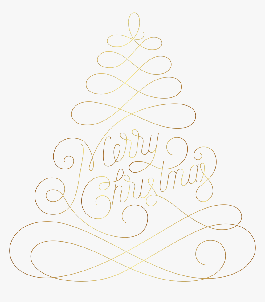 Christmas Clip Art Merry Tree - Christmas Tree, HD Png Download, Free Download