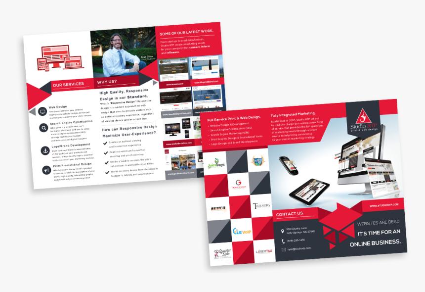Studio Rtp Trifold Brochure Design - Tri Fold Brochure Design Full, HD Png Download, Free Download