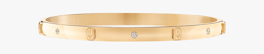 Hw Logo By Harry Winston, Accent Yellow Gold Diamond - Bangle, HD Png Download, Free Download