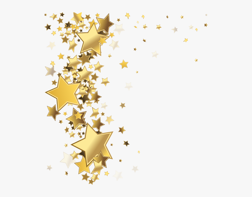 Stars Decoration Png Clip - Gold Stars Background Png, Transparent Png, Free Download