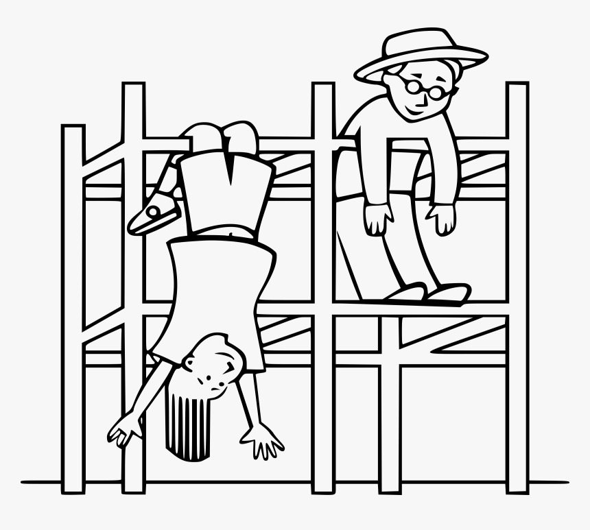 Kids On A Jungle Gym Clip Arts - Jungle Gym To Color, HD Png Download, Free Download