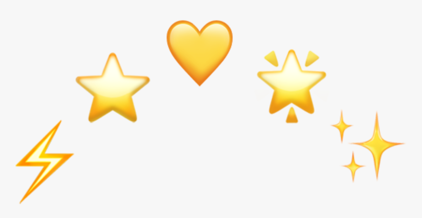#yellow #hearts #crown - Yellow Heart Emoji Png, Transparent Png, Free Download