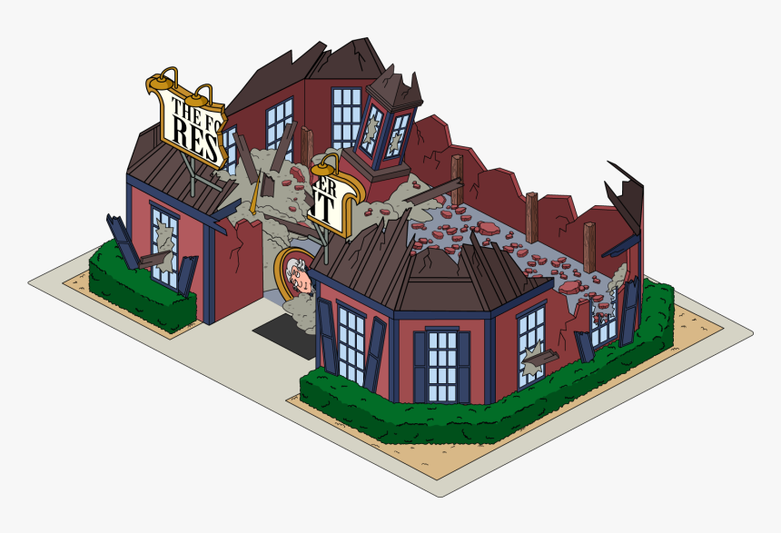 The Quest For Stuff Wiki - Cartoon Destroyed Building Png, Transparent Png, Free Download