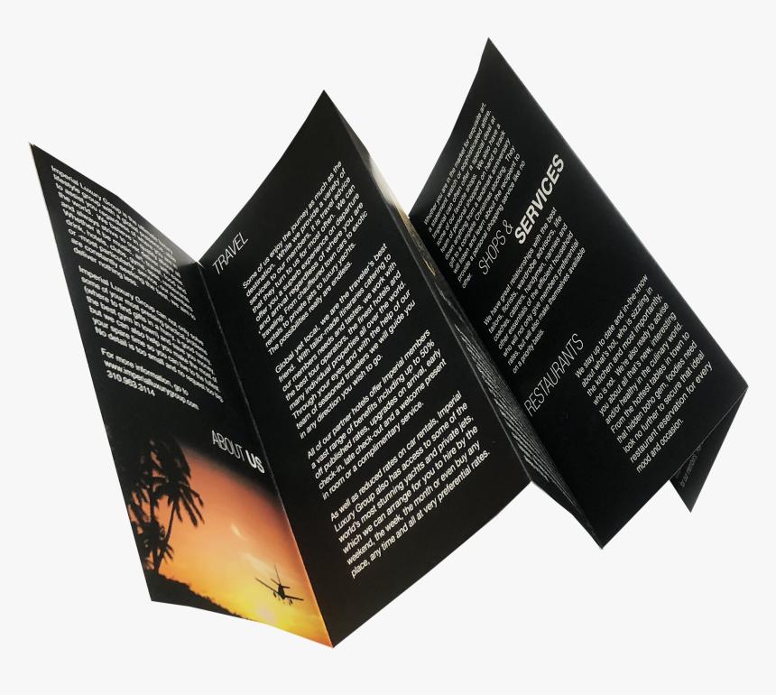 Five Fold, Folded, 4 Color, Print Sample - Brochure Fold Sample, HD Png Download, Free Download