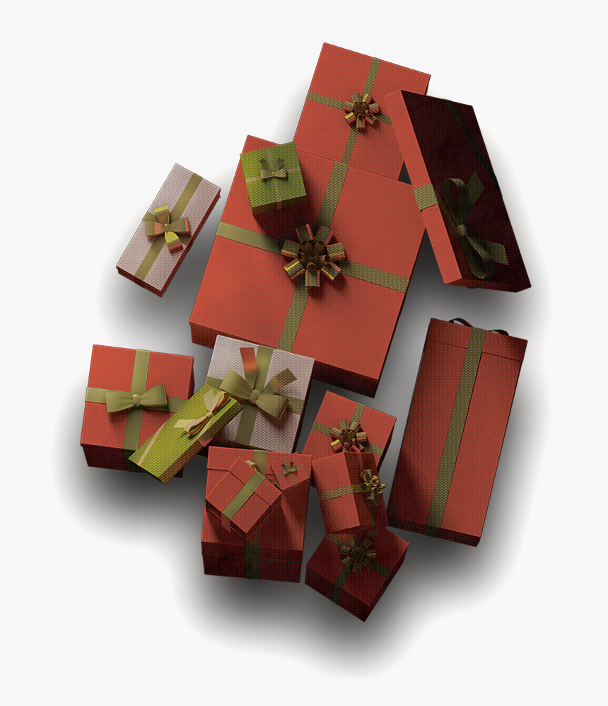 Red Festive Gift Box Png - Wrapping Paper, Transparent Png, Free Download