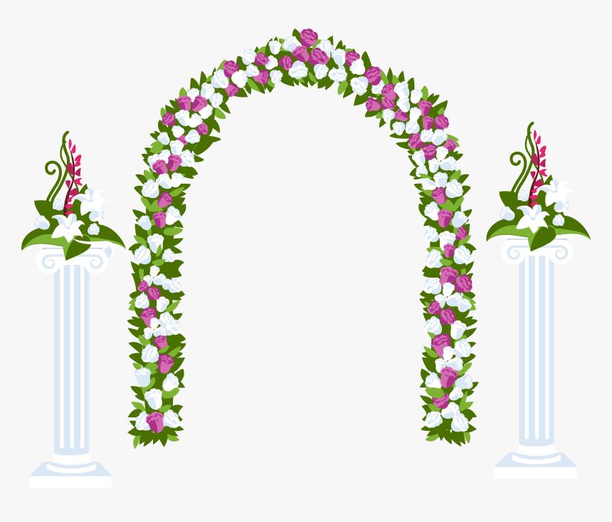 Clipart Gallery Wedding Decoration - Arcos De Flores Para Santos, HD Png Download, Free Download