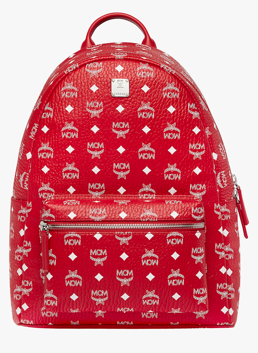 Red And White Mcm Backpack, HD Png Download, Free Download