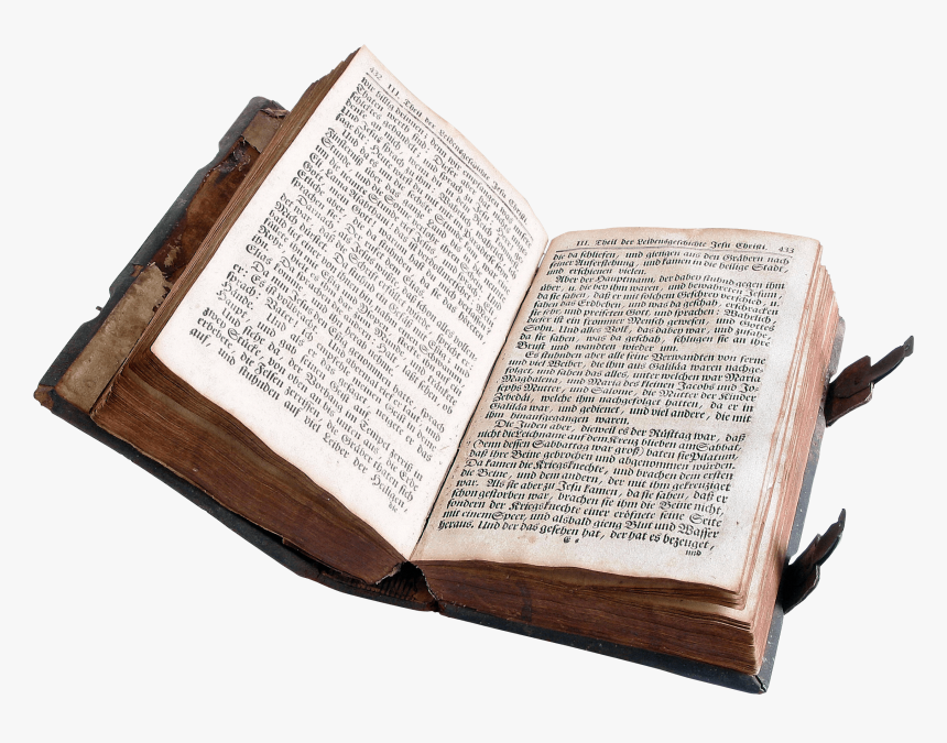 Open Old Book - Old Book Png, Transparent Png, Free Download