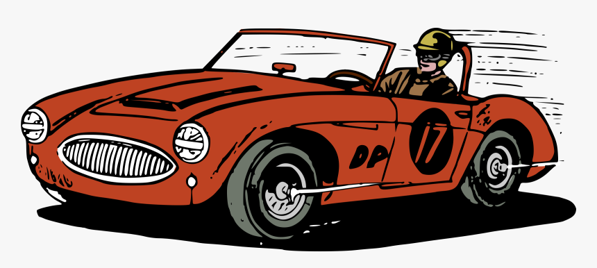 Land Car,cartoon,classic Car,coup�,race Car,antique - Race Car Moving Clipart, HD Png Download, Free Download