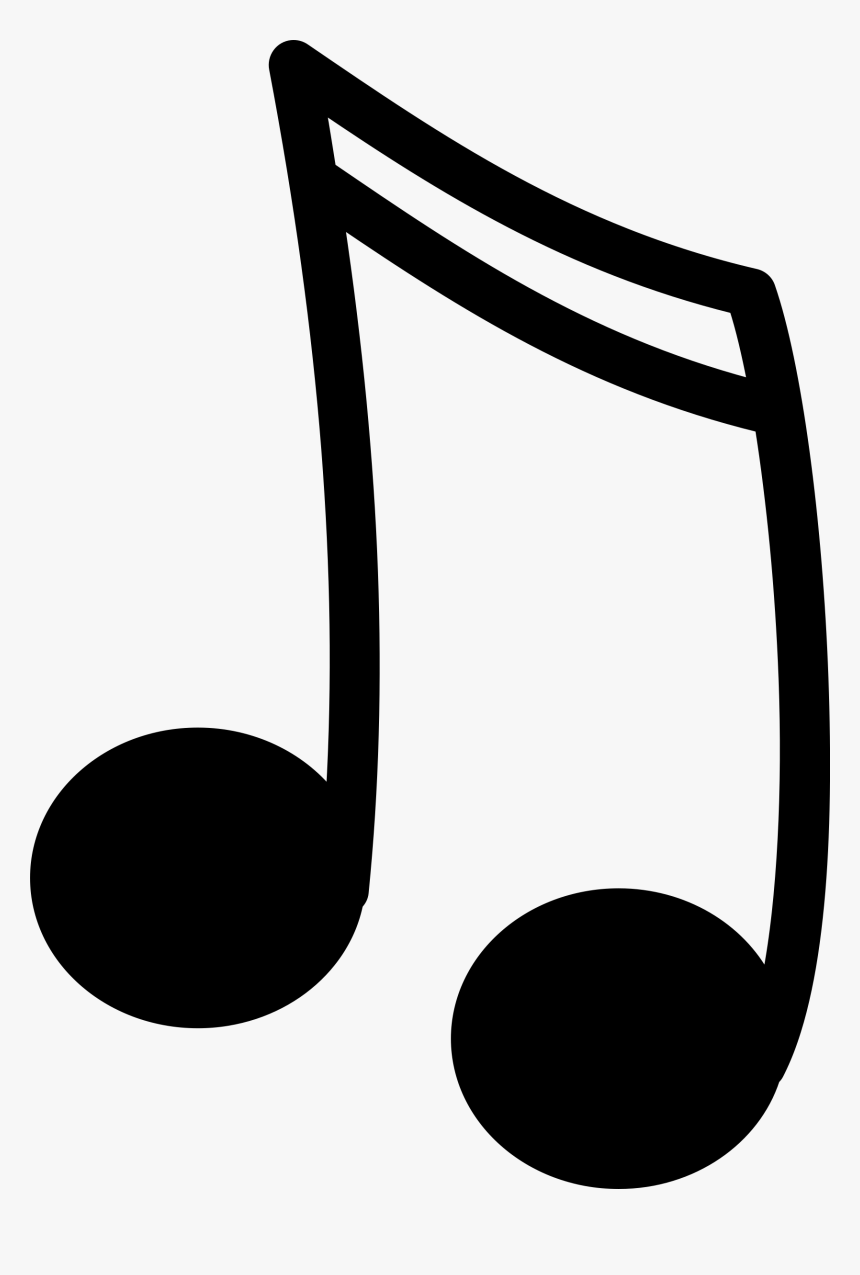 - Music Notes Png - Music Notes Clipart Black And White, Transparent