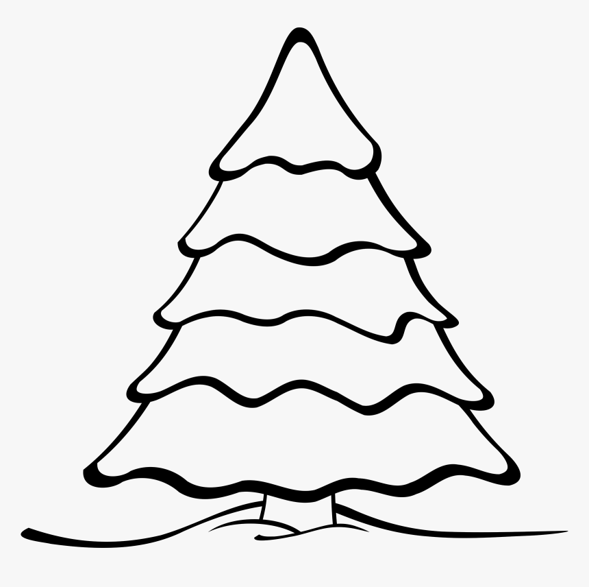 Christmas Tree Clipart Black And White Black And White Christmas
