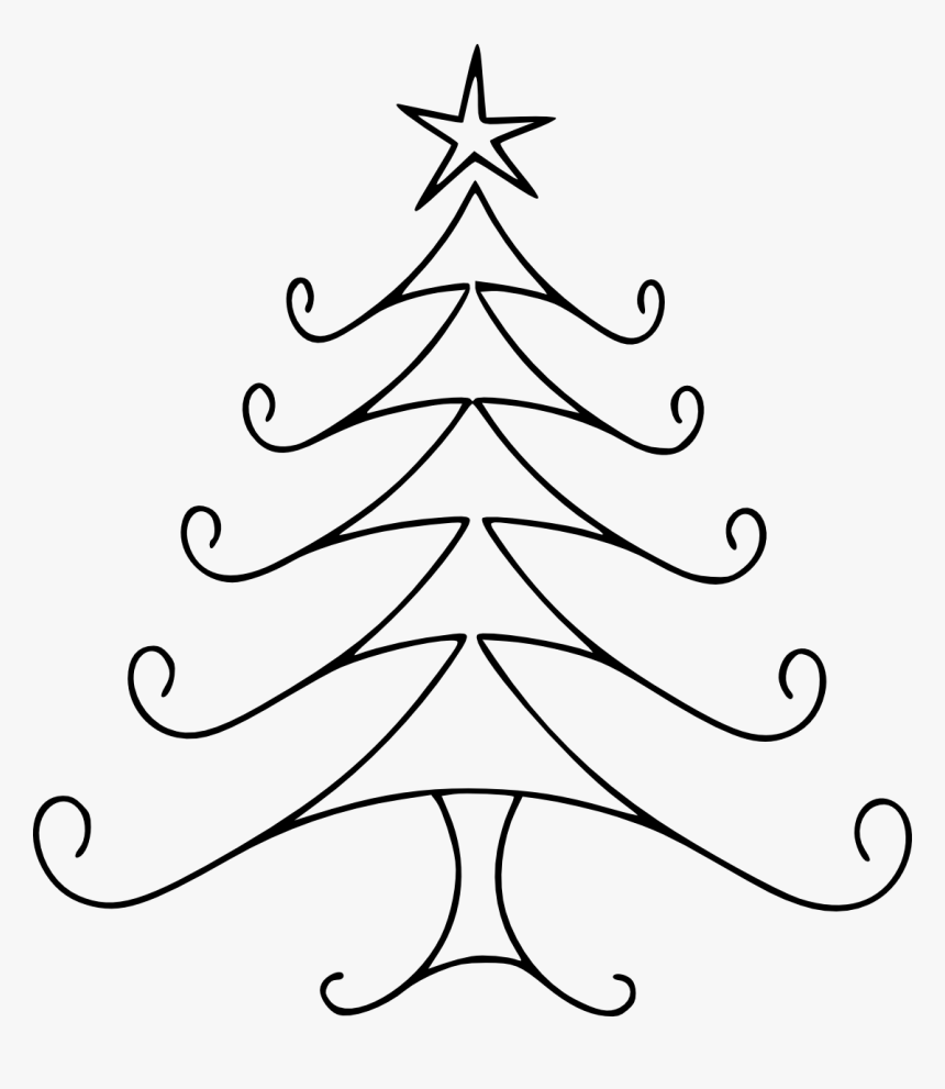 Simple Christmas Tree Clipart - Art How To Draw Christmas Tree, HD Png Download, Free Download