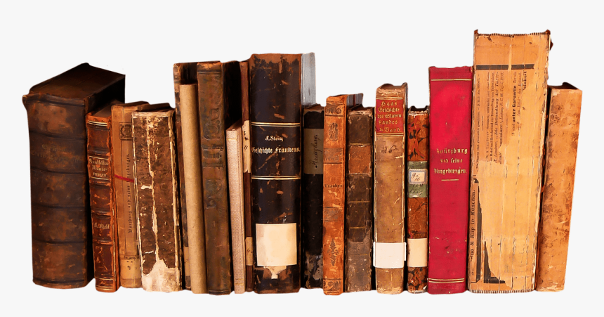 Books In A Row - Row Of Books Transparent Png, Png Download, Free Download