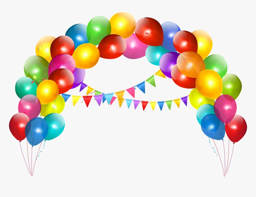 Toy Balloon Party Wedding Online Shopping - Happy Birthday Decorations Clip Art, HD Png Download, Free Download