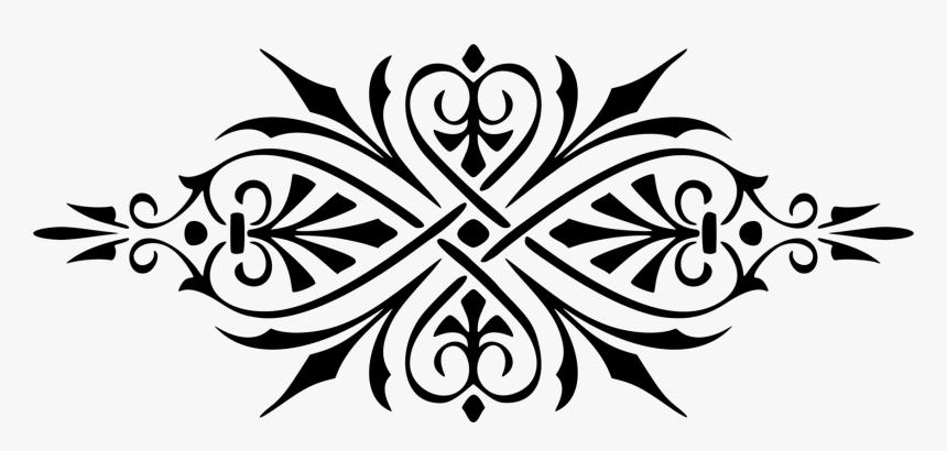 Ornament Decorative Arts Motif Stencil Flower - Motif Clipart, HD Png Download, Free Download