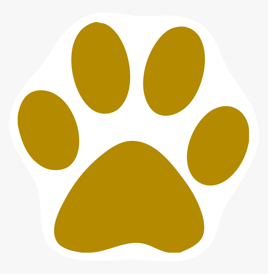 Paw Clip Art - Gold Cat Paw Print, HD Png Download, Free Download