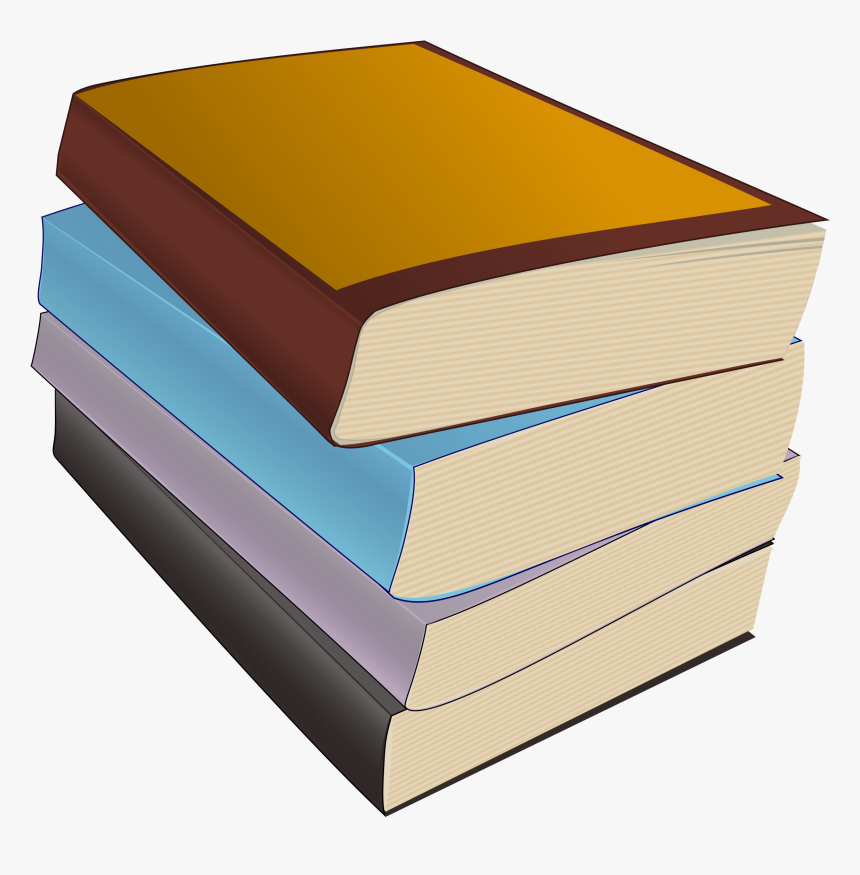 Of Paperbacks Big Image - Stack Stacked Books Clipart, HD Png Download, Free Download