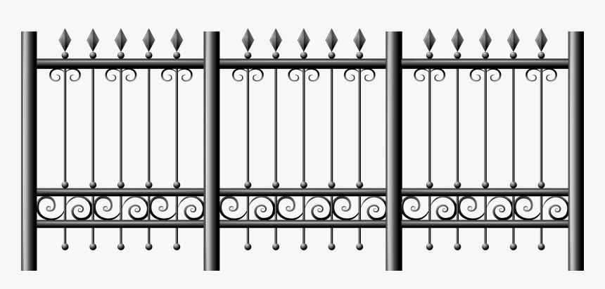 Transparent Iron Fence Png Clipart - Clear Background Fence Png, Png Download, Free Download