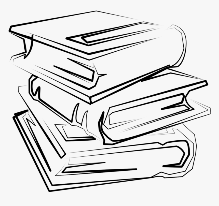 Bookshelf Clip Art Black And White, HD Png Download - kindpng