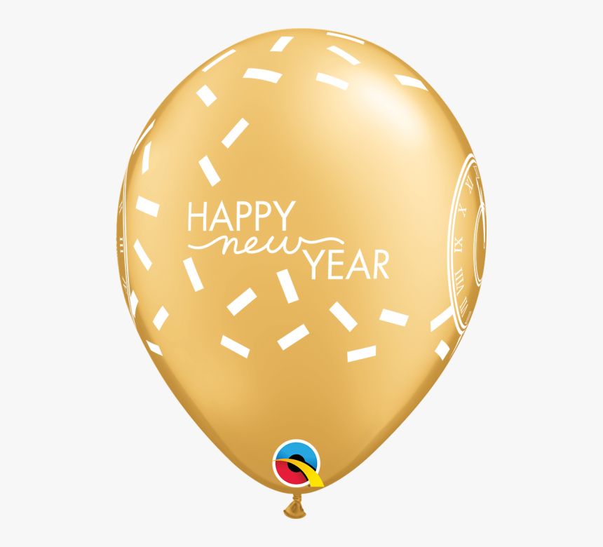 Qualatex 11 Inch Happy New Year Confetti Countdown - Mothers Day Balloons Png, Transparent Png, Free Download
