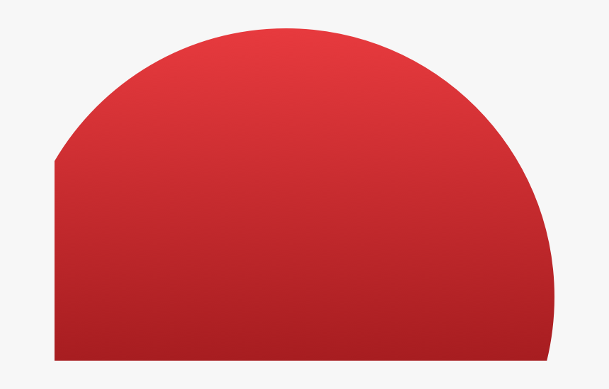 Semi Circle Png - Half A Red Circle Png, Transparent Png, Free Download