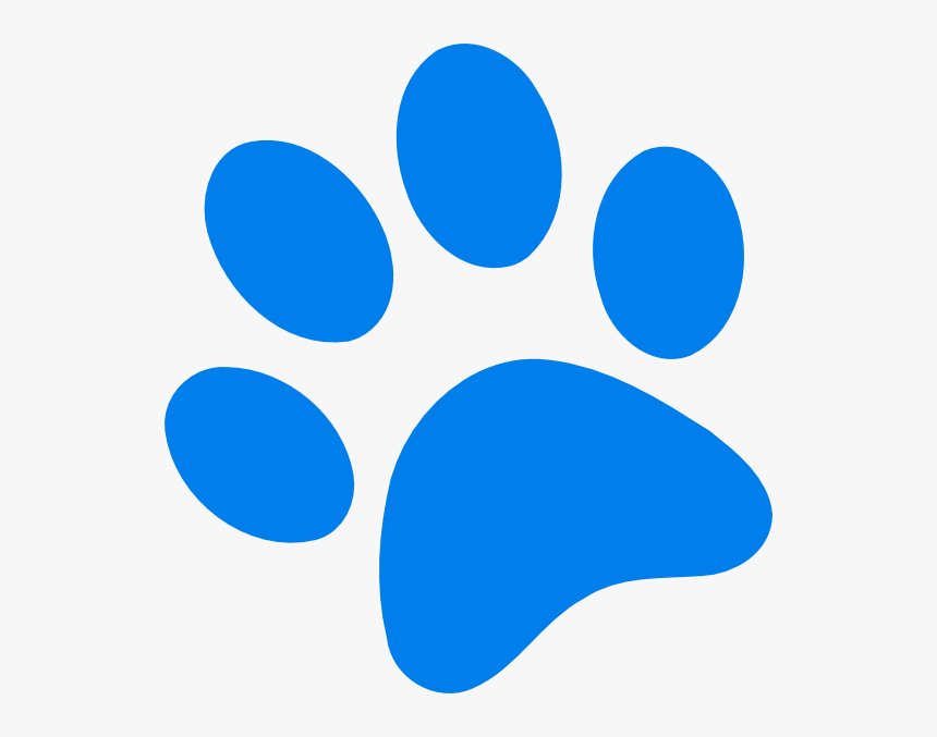 Blue Paw Print Svg Clip Arts - Dog Paw Print Blue, HD Png Download, Free Download