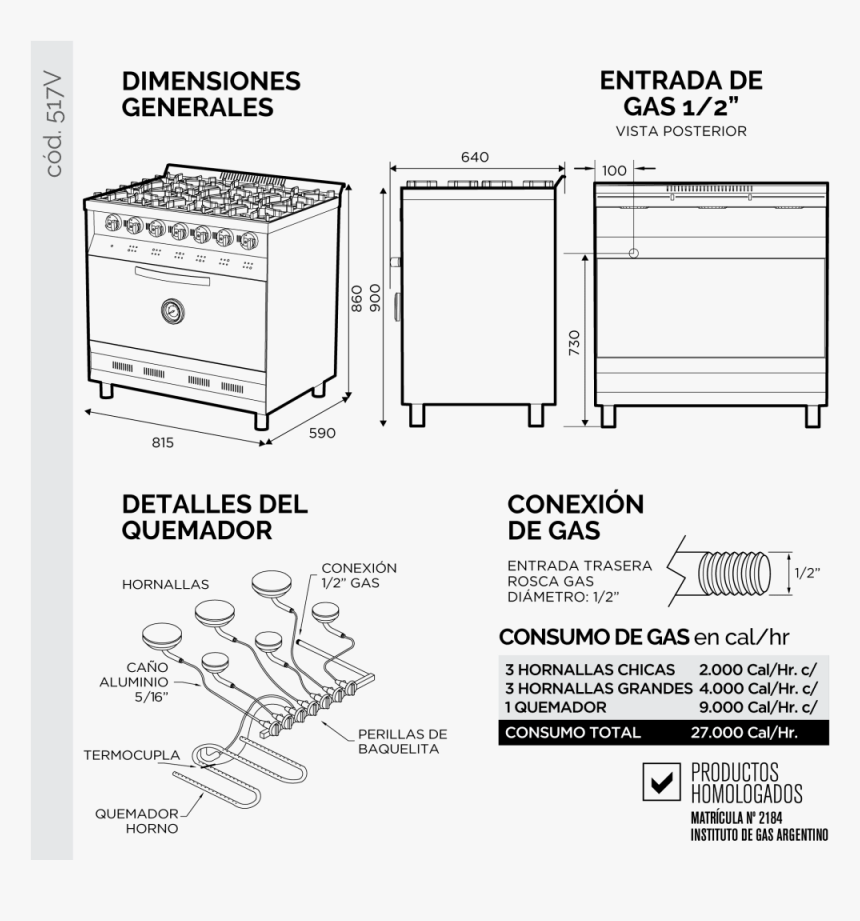 Horno Pizzero 6 Moldes Medidas, HD Png Download, Free Download