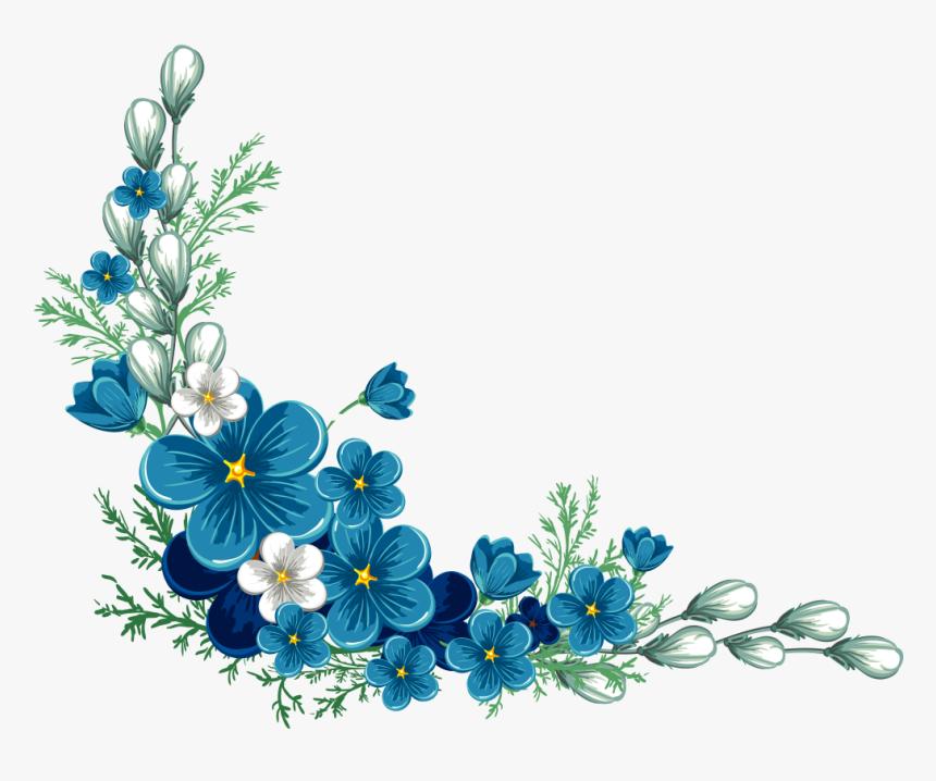 Flower Border Design Transparent Background Clipart - Transparent Background Clipart Flowers, HD Png Download, Free Download