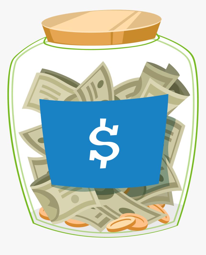 Money Death Clipart Of Jar Transparent Png - Jar Of Money Clip Art, Png Download, Free Download