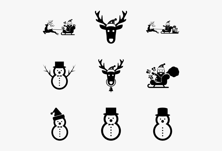 Santa Xmas - Snowman Icon, HD Png Download, Free Download
