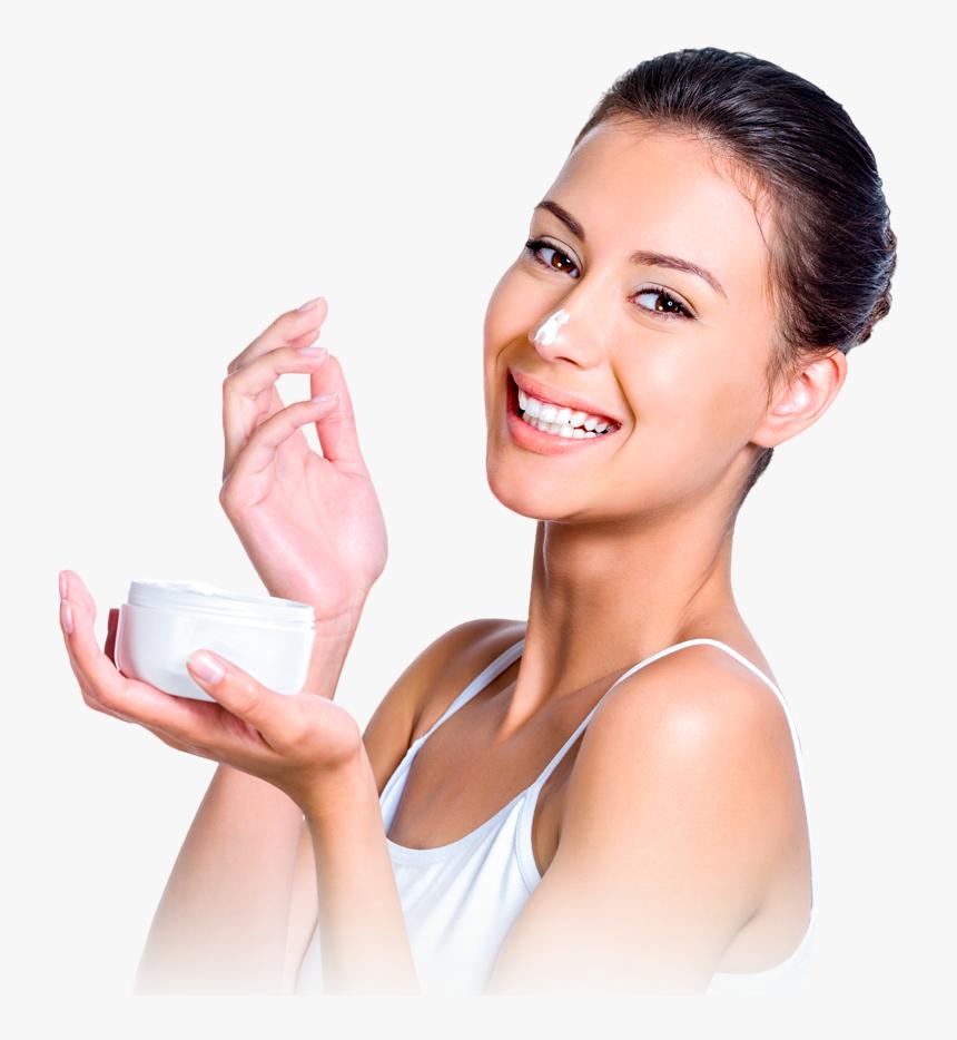 Skin Care Model Large Transparent Skin Care Model Hd Png Download Kindpng