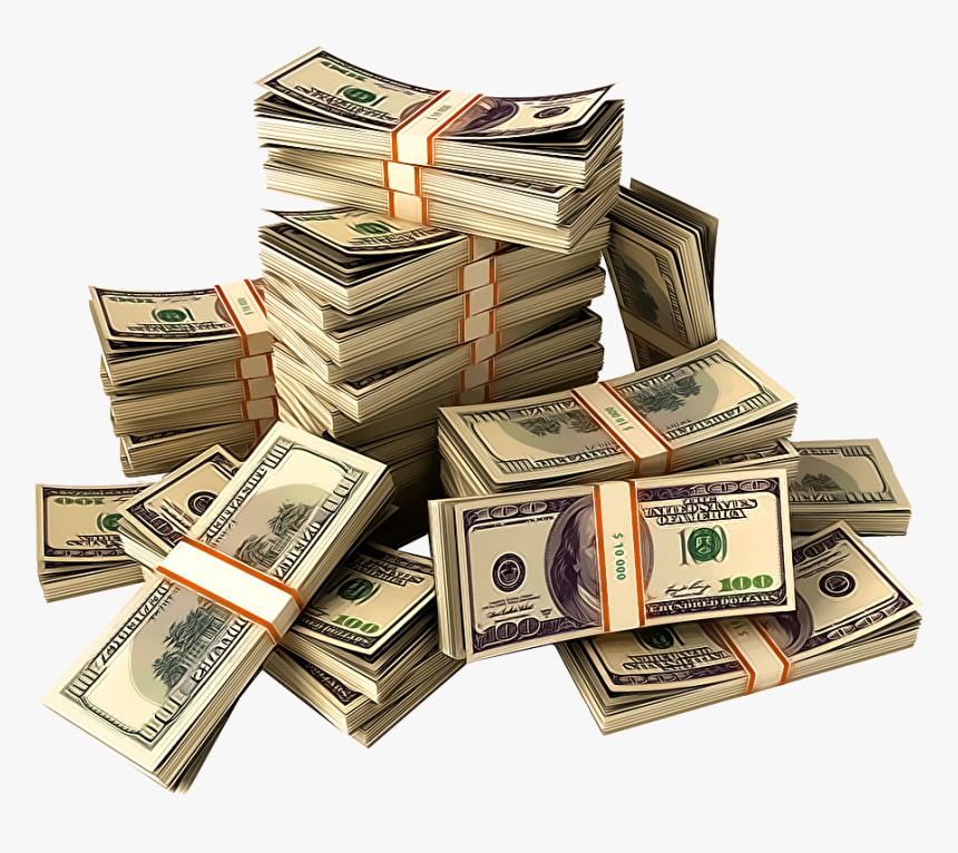 Saving - Transparent Stacks Of Money, HD Png Download, Free Download