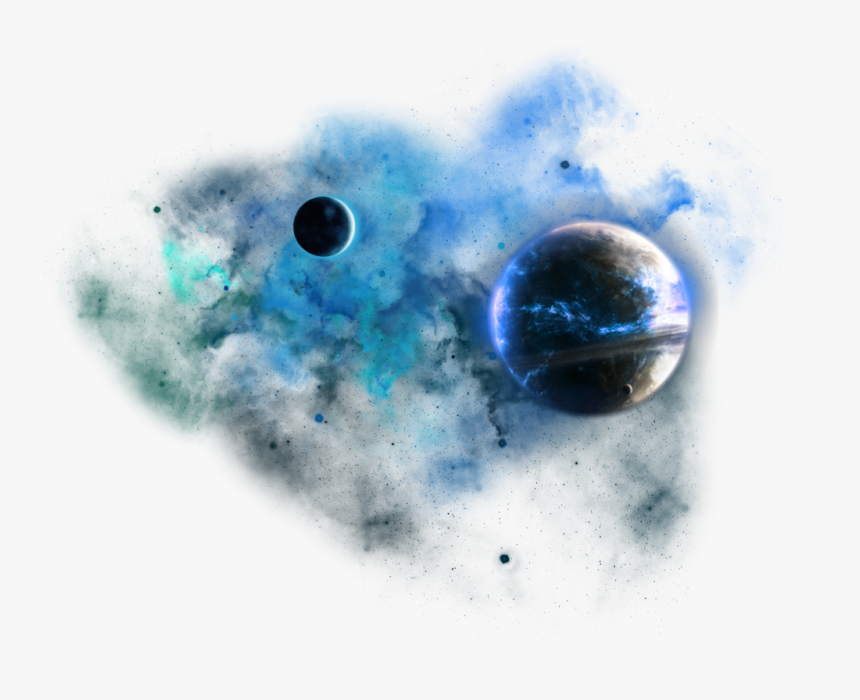 #space #dust #png #blue #galaxy #spaceeffects #planets - Transparent Background Space Clouds Png, Png Download, Free Download