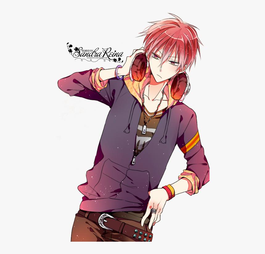 "Headphones Kuroko""s Basketball, Anime Boys, Cute Anime - Kuroko No Basket Akashi Fanart, HD Png Download, Free Download"