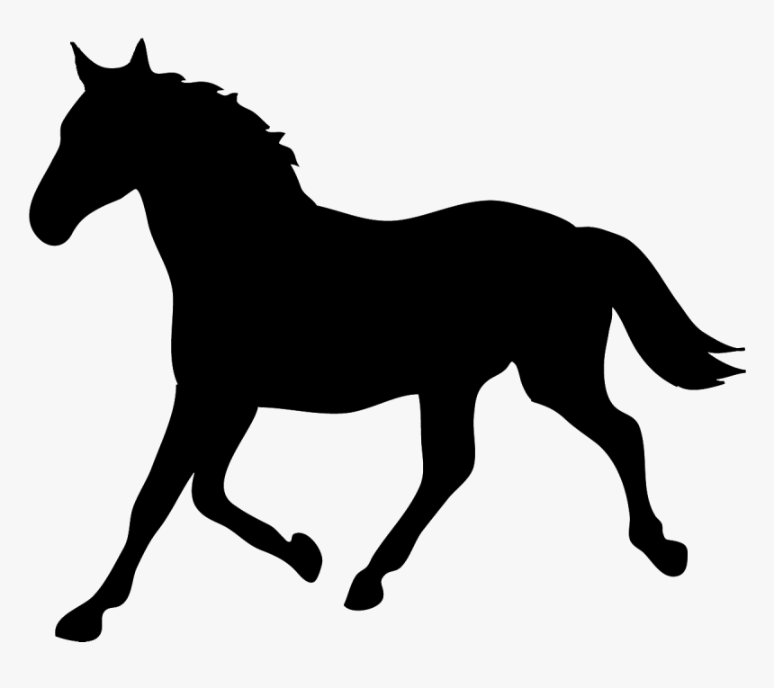 Tennessee Walking Horse Silhouette Equestrian Horse - Easy Horse Silhouette, HD Png Download, Free Download
