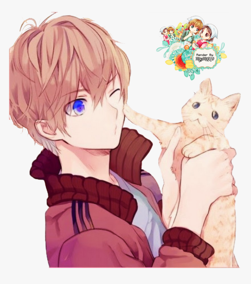 Anime Boy Cute - Anime Boy Brown Hair, HD Png Download, Free Download