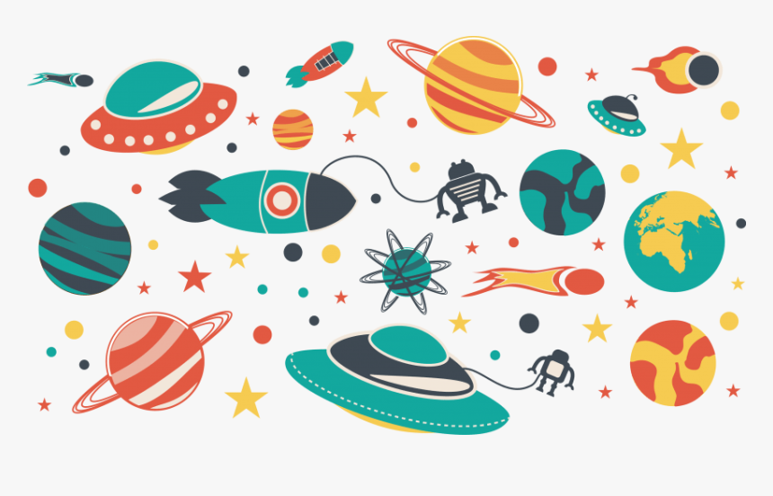 Universe Clipart Border - Space And Universe Cartoon, HD Png Download, Free Download