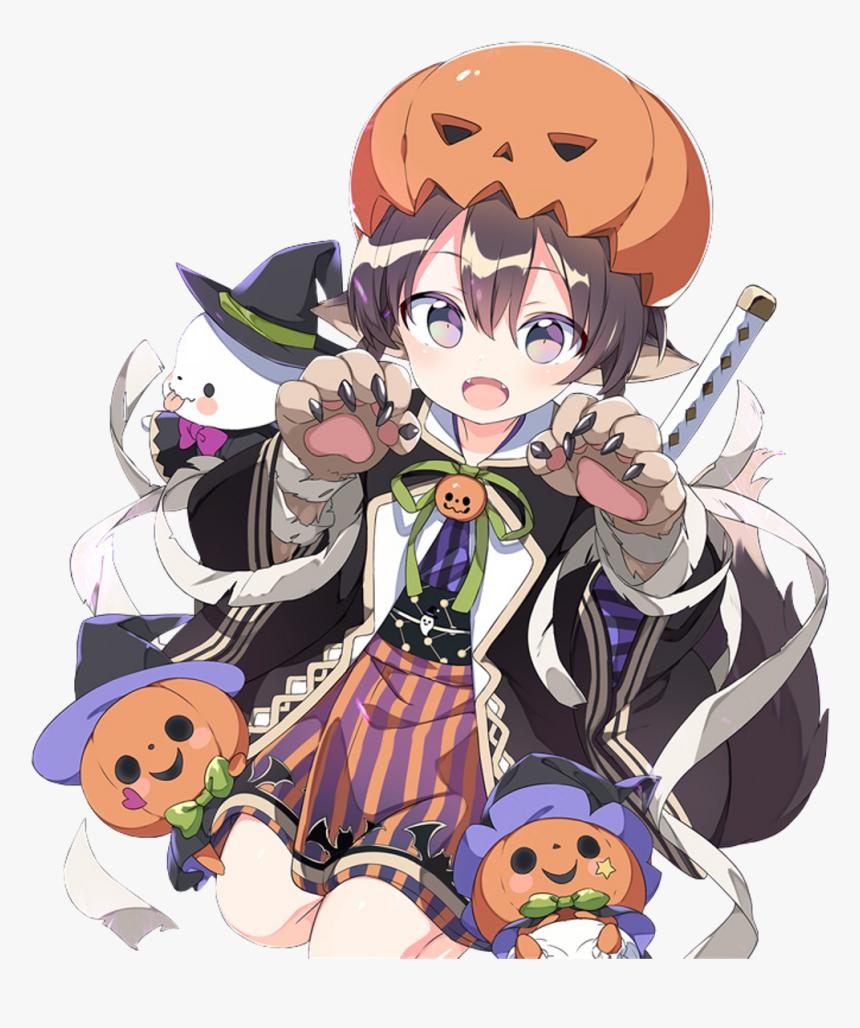 #anime #manga #girl #cute #kawaii #boy #guy #halloween - Kawaii Halloween Anime Girl, HD Png Download, Free Download