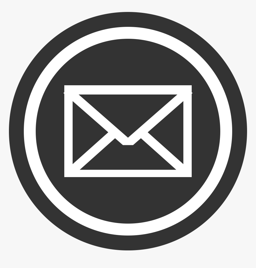 Mail Clipart Black And White - Email Icon Light Blue, HD Png Download, Free Download