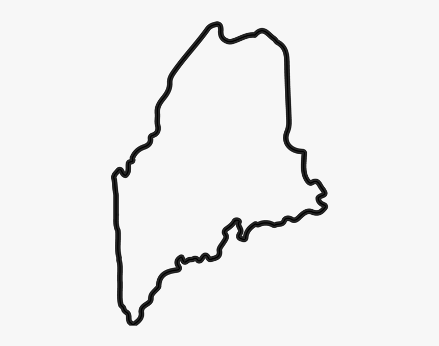 Clip Art New Hampshire Clipart - State Of Maine Drawing, HD Png Download, Free Download