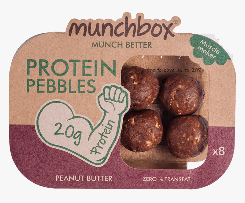 """Munchbox Protein Pebbles Peanut Butter""""  Class=""""lazyload - Pumpernickel, HD Png Download, Free Download"""