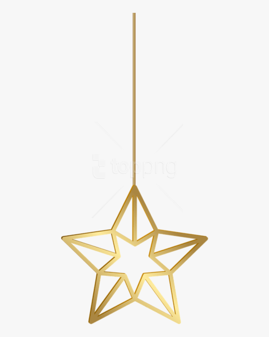 Transparent Hanging Ornaments Clipart - Golden Star Clipart Png, Png Download, Free Download