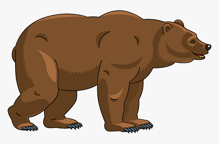 Bear Clipart - Grizzly Bear, HD Png Download, Free Download