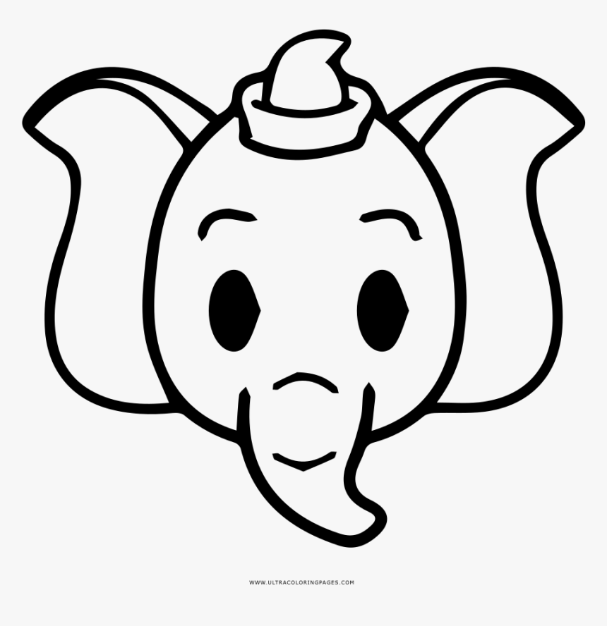 Dumbo in the Circus coloring page | Free Printable Coloring Pages ... | 888x860