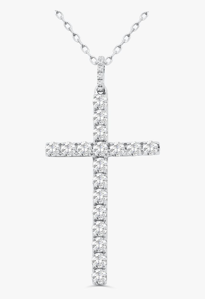 9ct White Gold Diamond Cross, HD Png Download, Free Download