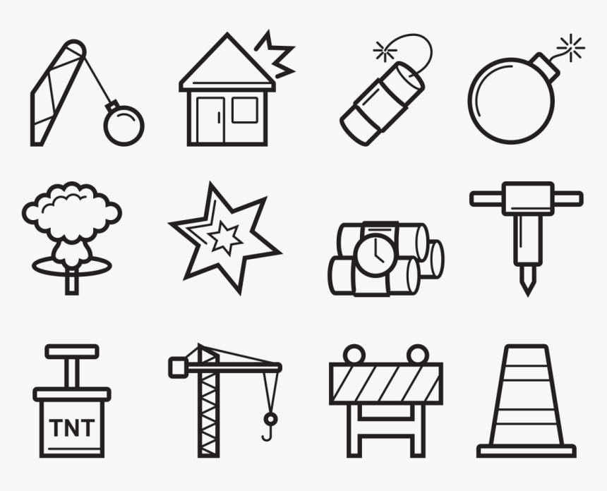 Demolition Icons Vector - Demolition Icons, HD Png Download, Free Download