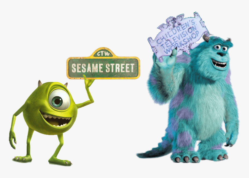 """Sesame Street Is A Production Of, The """"children's Television - Sully Monsters Inc Png, Transparent Png, Free Download"""