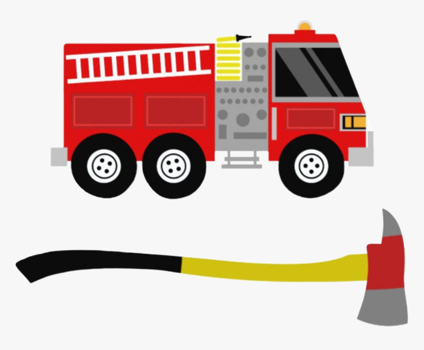 #fire #firetruck #axe #clipart #png - Invitacion De Cumpleaños Bomberos, Transparent Png, Free Download
